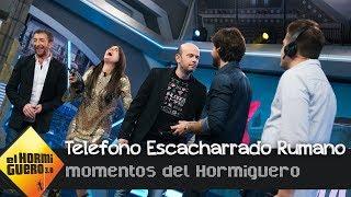 Adriana Ugarte y Álvaro Morte juegan al 'Teléfono Escacharrado Rumano' - El Hormiguero 3.0