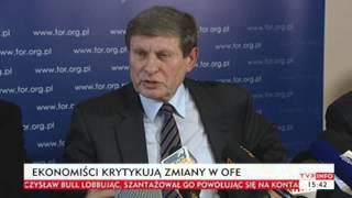Ekonomiści krytykują zmiany w OFE (TVP Info, 16.12.2013)