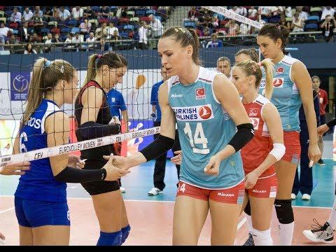 Турция - Украина. Волейбол. Женщины. Чемпионат Европы 2017. 3 тур. Группа С