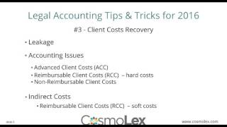 Legal Accounting Tips & Tricks for 2016