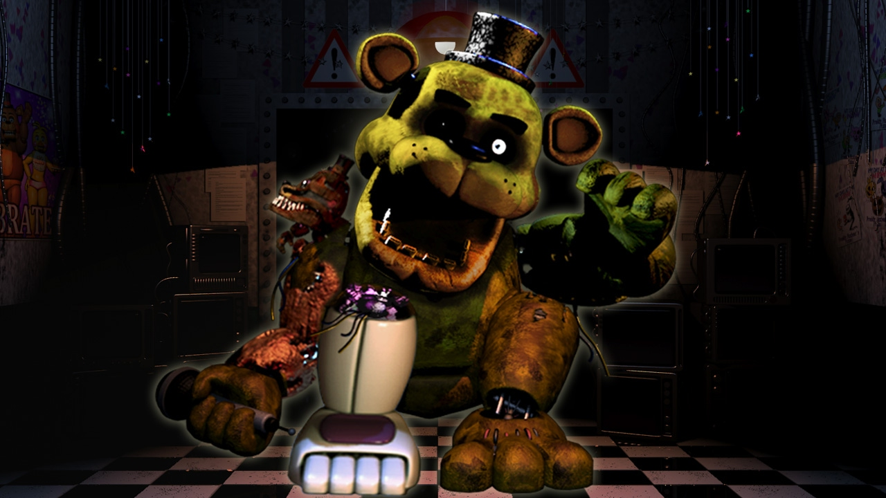 FNAF 2 - Mess Golden freddy Up - YouTube