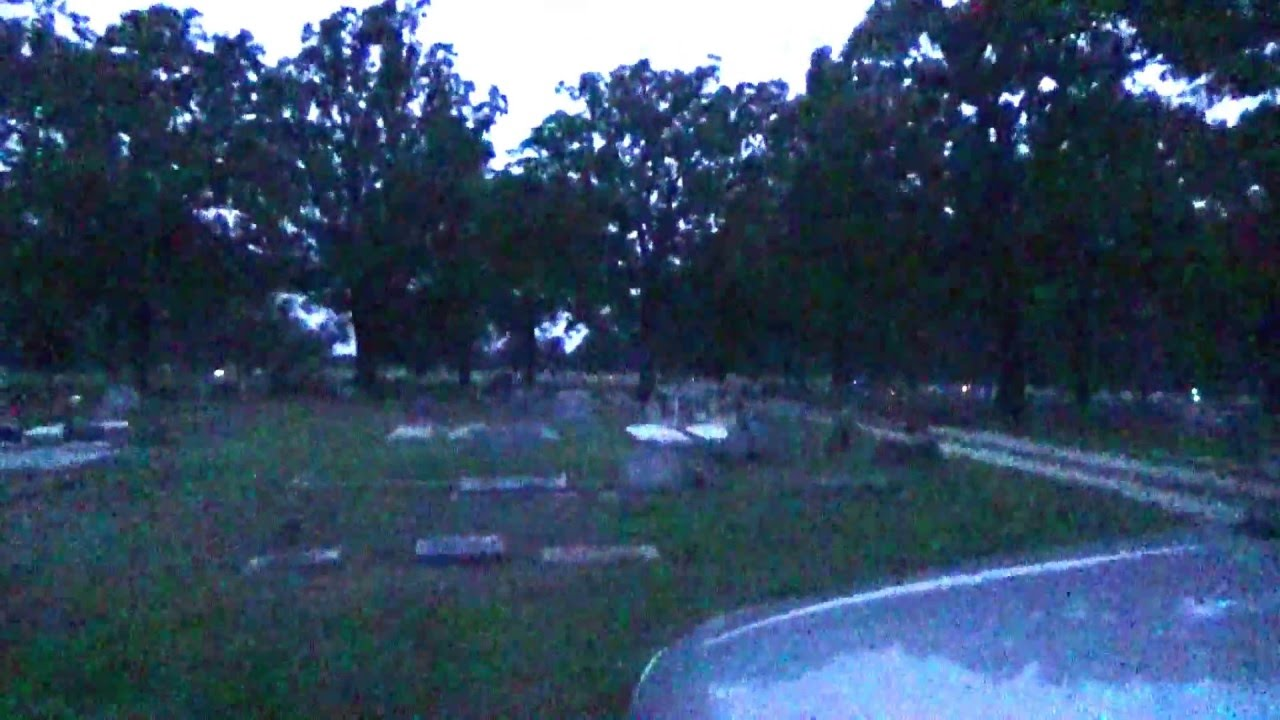 Unexplained Flying Black Shadow Figure-Oak Hill Cemetery- slow motion view added