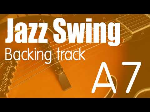 Swing Jazz Backing Track in A7 | 125 BPM