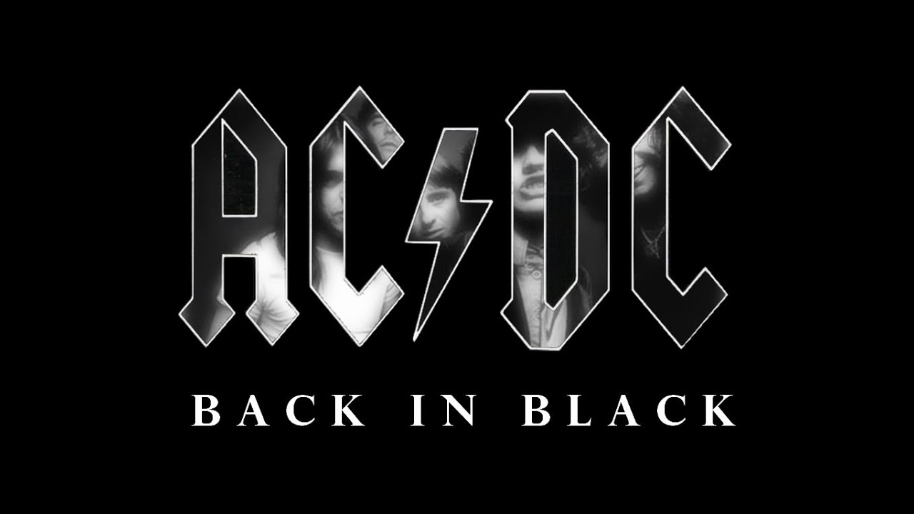 Image result for ac dc back in black pictures