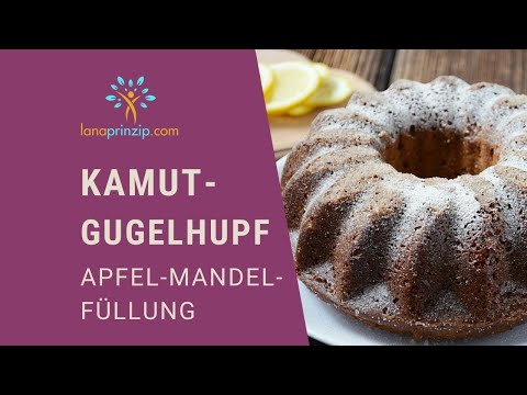 Die besten Kamut Rezepte & Gugelhupf backen: Saftiger Kamut Gugelhupf mit Apfel-Mandel-Füllung