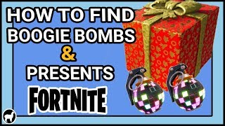 Fortnite - How to Find Boogie Bombs and Presents | 14 Days of Fortnite Day 7 |Fortnite Battle Royale