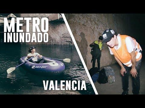 Remamos por el METRO INUNDADO de Valencia con una BARCA HINCHABLE - Portillo