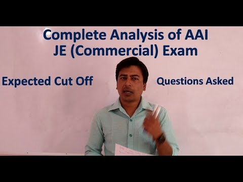 Complete Analysis of AAI JE (Commercial) Exam | Questions Asked | Expected Cut Off |