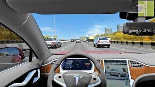 Tesla Model S - City Car Driving Simulator