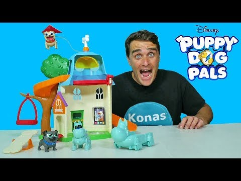 Puppy Dog Pals Doghouse Playset Toy Review Konas2002 Youtube