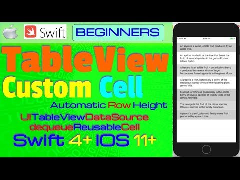 IOS 11, Swift 4, Tutorial : How To Create Dynamic Custom Tableview Cells (  Auto Row Height )