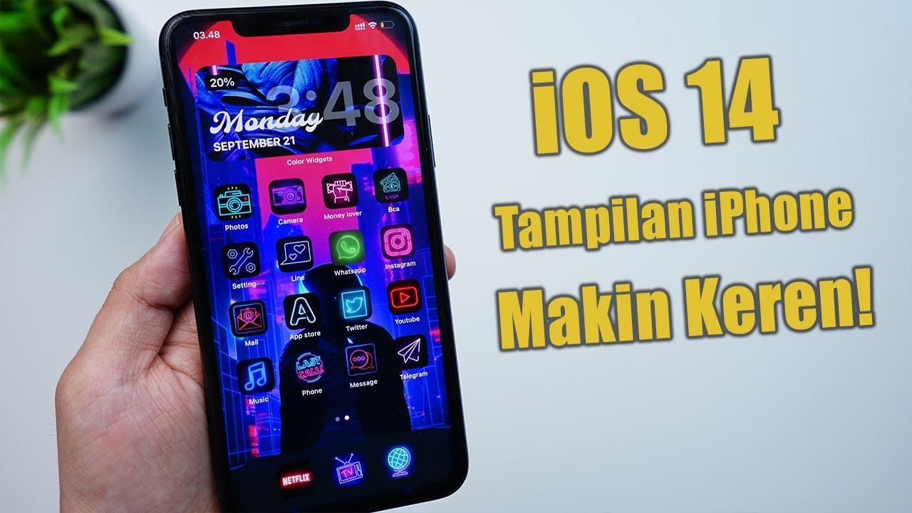Ubah tampilan home screen iPhone & App icon di iOS 14