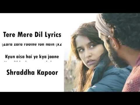Tere Mere Dil Rock On 2 Song Video Lyrics | Shraddha Kapoor, Farhan Akhtar