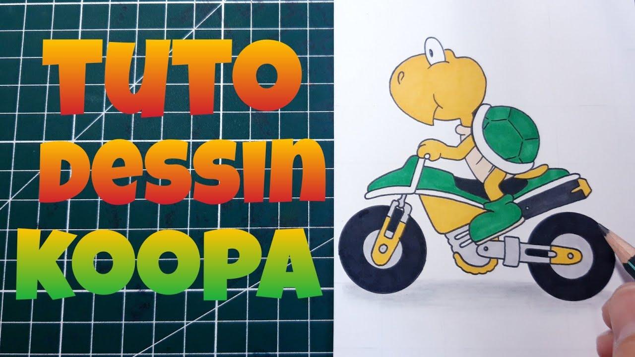 Comment Dessiner Koopa Dessin Mario Kart Facile Youtube
