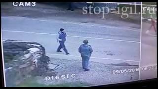 Видео с теракта в Грозненском районе Чечни 09.05.2016