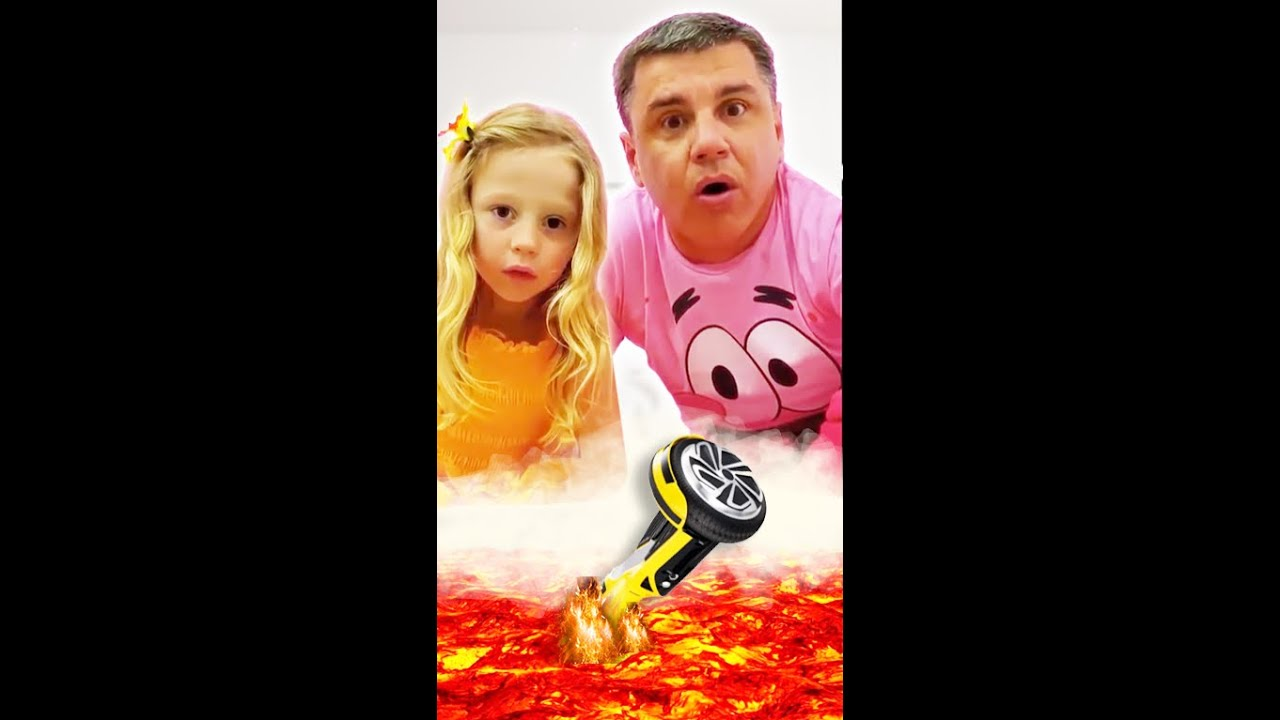 Download The Floor is Lava - story by Nastya and dad. #shorts