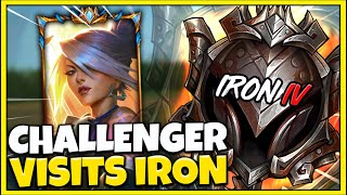 Challenger Akali Main viṡits Iron 4... ELO Hell Actually exists. - League of Legends