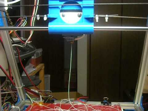 Huxley hot end nozzle Test after cleaning of the nozzle (3D Printer )