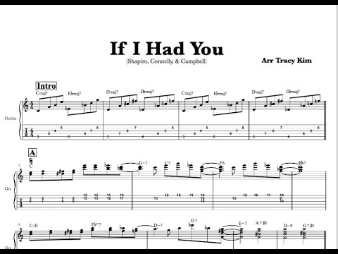 """If I Had You"" for Easy Jazz Guitar"