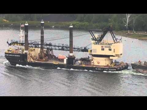 Corps of Engineers tug D. L. Billmaier and barge H. J. Schwartz