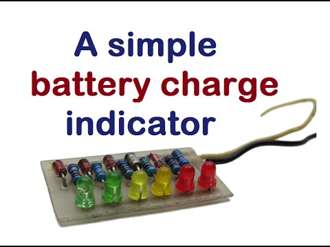 A simple battery charge indicator