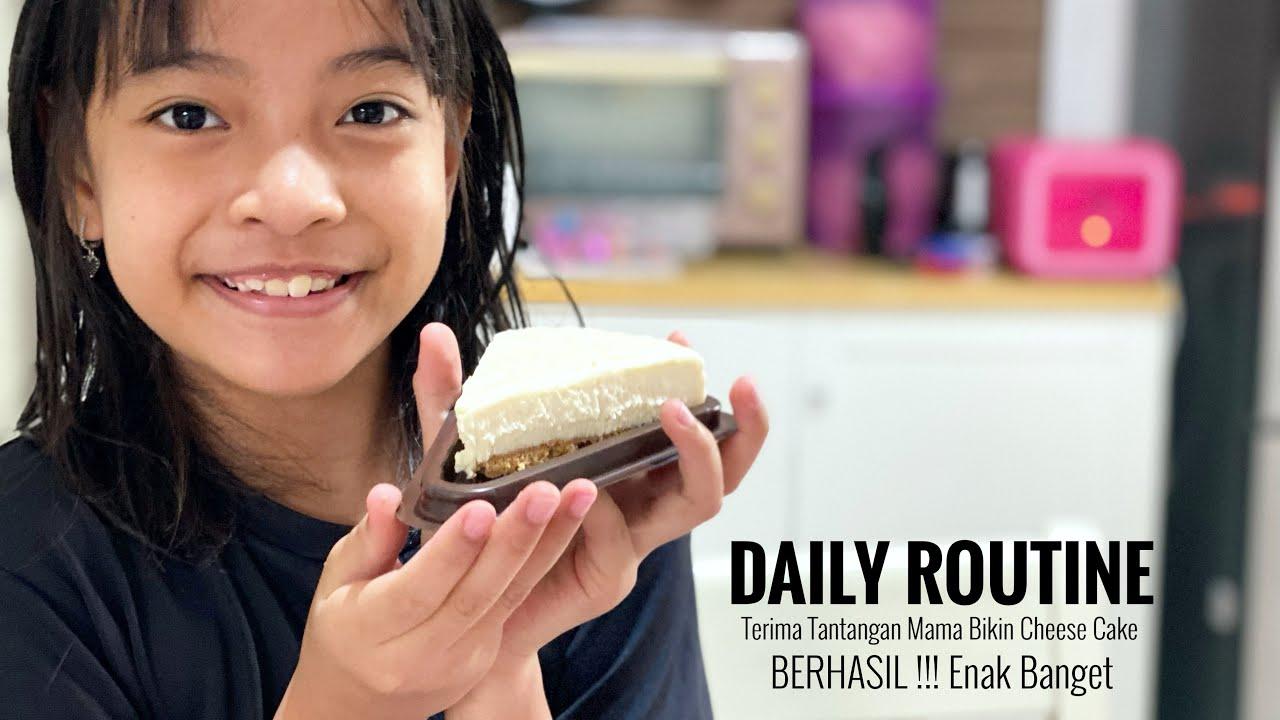 Daily Routine   Tantangan Membuat Cheese Cake ala Cafe   Zara BERHASIL