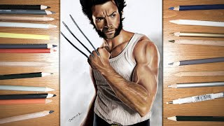 Speed Drawing: Wolverine - Hugh Jackman | Jasmina Susak