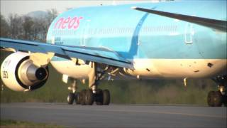Neos Boeing 767-306 T/O Milan Malpensa Airport ( Celebrating 150th Italy Union Anniversary )