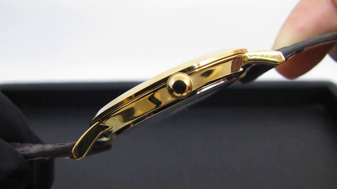 0f7534cb9cb REVIEW   Relógio Magnum MA21900S Social Clássico Fino Slim Dourado ...