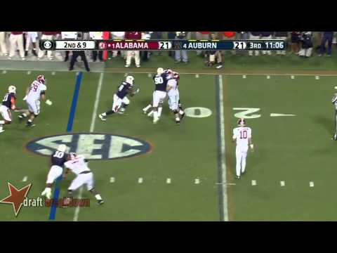 #71 Cyrus Kouandjio, LT, Alabama Vs Auburn '13