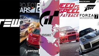 Top 5 Upcoming Racing Games 2017-2018 PC PS4 XBOX1