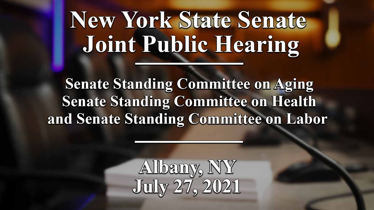 Download Joint Public Hearing: Nursing Home, Assisted Living, and Homecare Workforce - 07/27/21