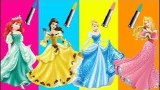 错误的化妆口红冷冻Elsa公主Ariel爪子巡逻小马屁股家庭学习颜色