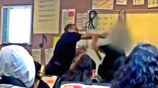 #291 California Teacher Caught Punching Student 14 yr old| Student hits teacher with basketball
