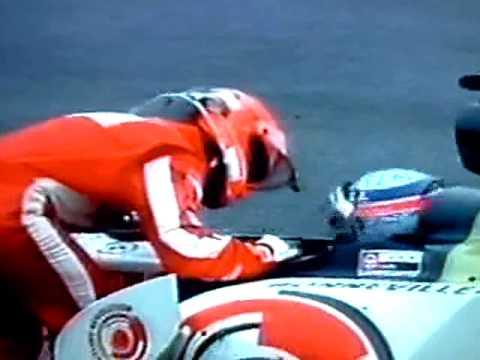 Gp Belgio 2005 - Michael Schumacher rifila uno scappellotto a Takuma Sato - Spa Schumi vs Sato crash