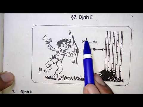 Toán học lớp 7 - Bài 7 - Định lí