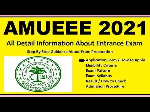 AMUEEE 2021 - Notification, Dates, Application, Eligibility, Admit Card, Pattern, Syllabus, Result