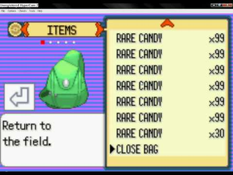 Pokemon Emerald L UNLIMITED MONEY - RARE CANDY - UNLIMITED ITEMS L CODEBREAKER - GAMESHARK