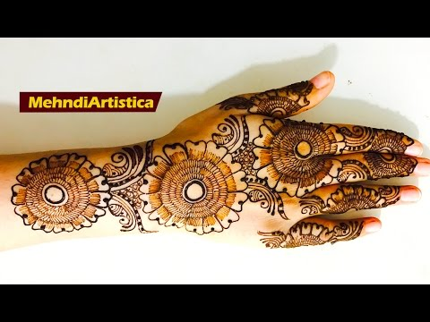 Simple Easy Henna Mehndi Designs For Hands |Floral Leafy Mehendi Design By MehndiArtistica