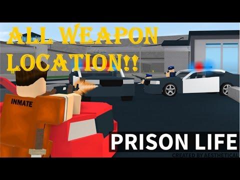 Roblox prison life v2 0 all weapon location