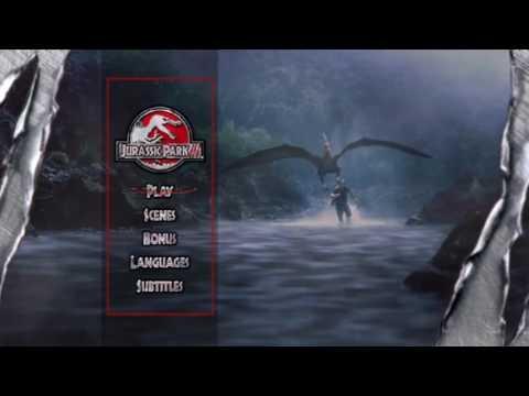 menu jurassic park 3 DVD HD (2001)