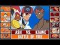 ASH vs. KIAWE (Pokémon Sun/Moon) - Battle of Companions