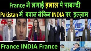 France ने लगाई हलाल meat पे पाबन्दी |  Pakistan में बवाल लेकिन INDIA पर इल्ज़ाम  | pak media latest