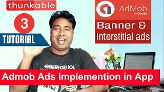 How to implement Admob Banner & Interstitial ads in android apps using Thunkable