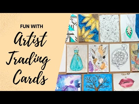 Exploring Art With Small Creations: Fun With Artist Trading Cards