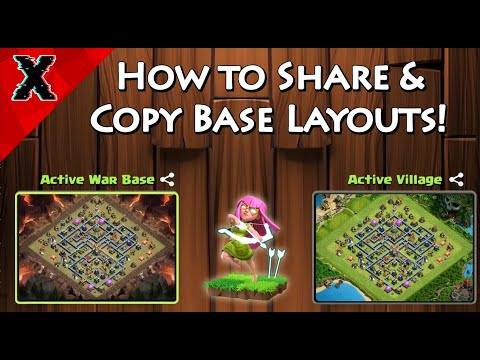 How To Copy A Base Layout - Clash Of Clans - Share Layout Village & Builder Base