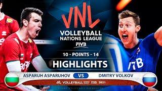 Bulgaria vs Russia | VNL 2021 | Highlights | Asparuh Asparuhov vs Dmitry Volkov
