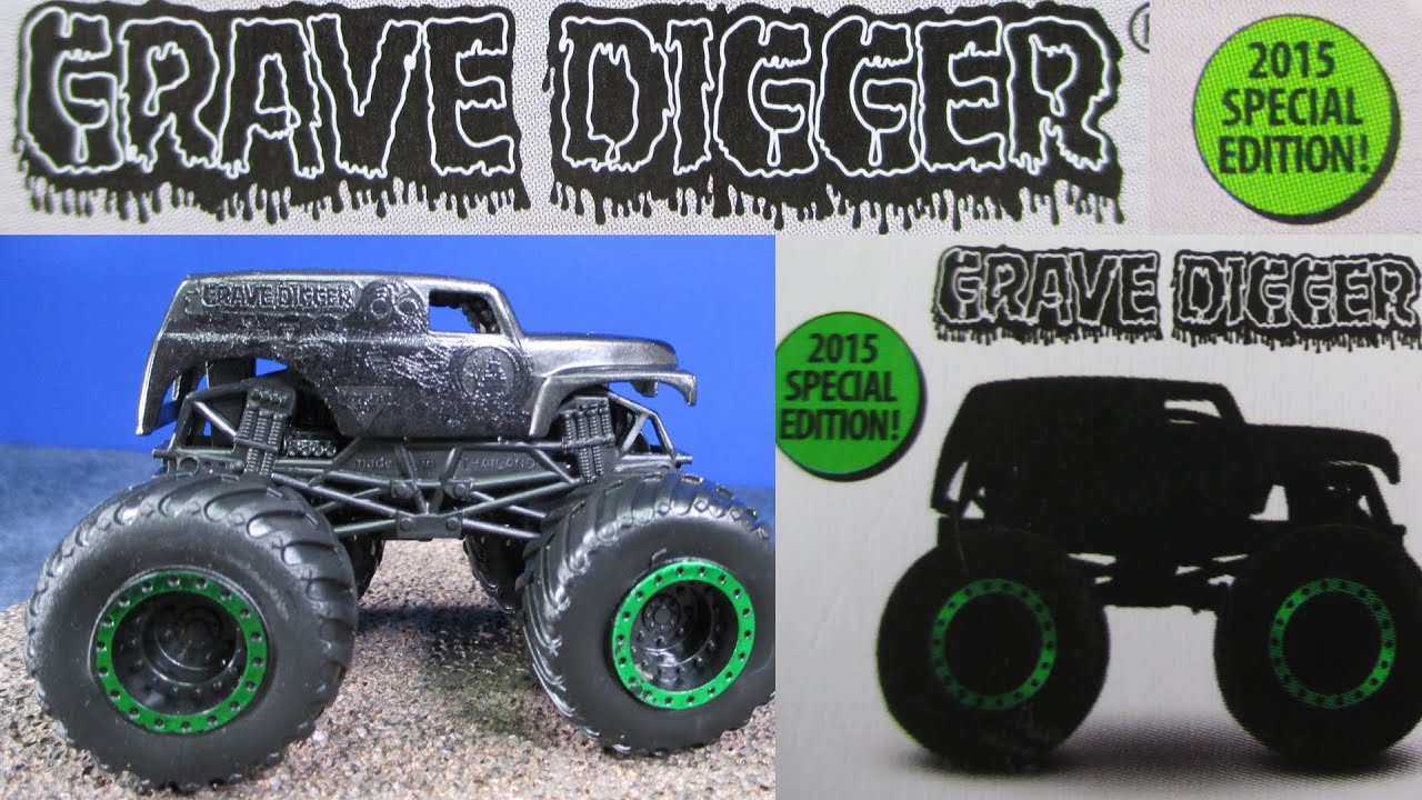 Special Ops Truck >> 2015 Special Edition Black Grave Digger Hot Wheels Monster ...