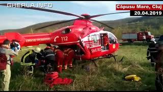 Accident Cluj microbuz elevi Bacau rasturnat Capusu Mare 20 04 2019