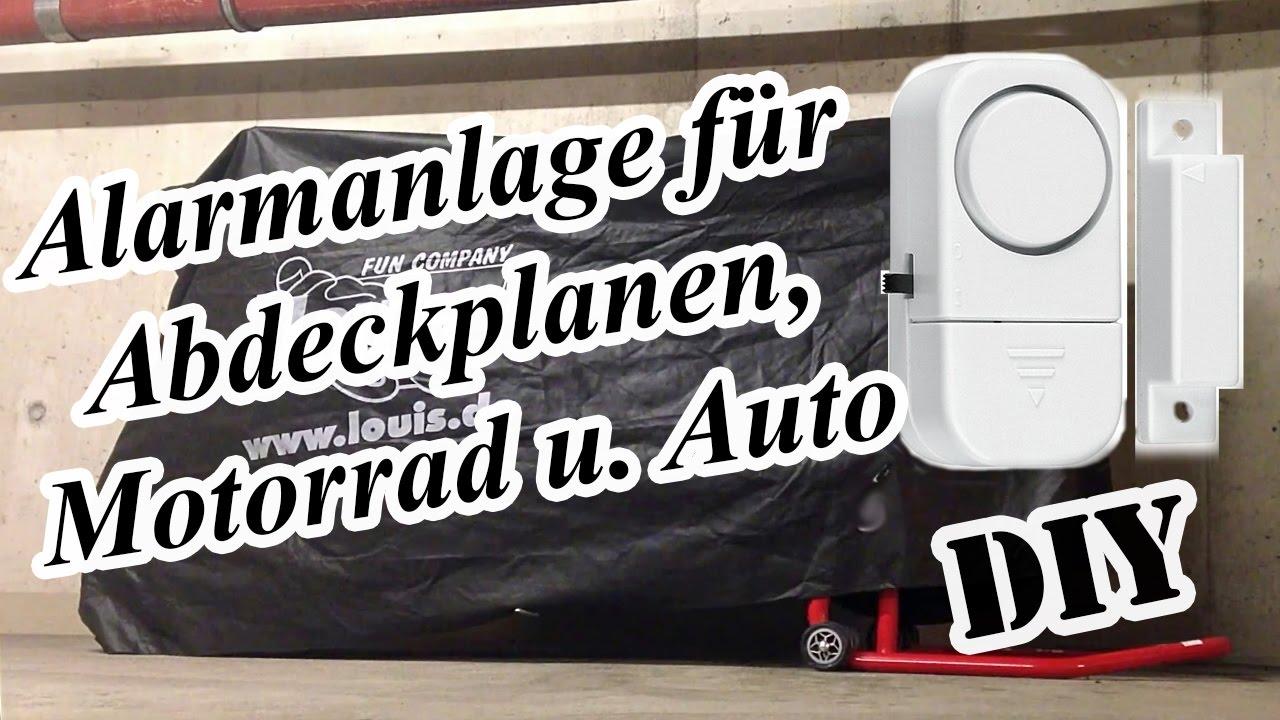 alarmanlage f r abdeckplanen motorrad u auto youtube. Black Bedroom Furniture Sets. Home Design Ideas